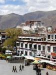 Barkhor Lhasa Tybet żołnierze chińskaokupacja