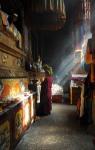 Klasztor Samje mnich wczapce