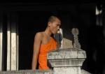 Mnisi buddyjscy Luang Prabang Laosjałmużna