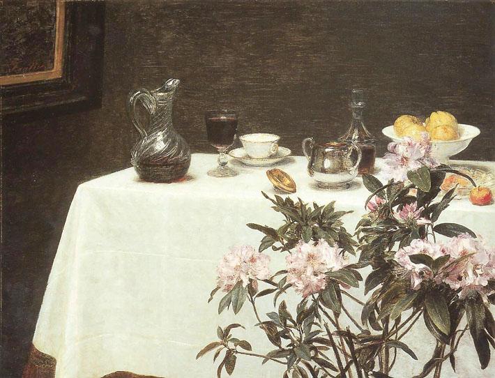 Rododendron wino i cytryny henri fantin latour un coin - Un coin de table fantin latour ...