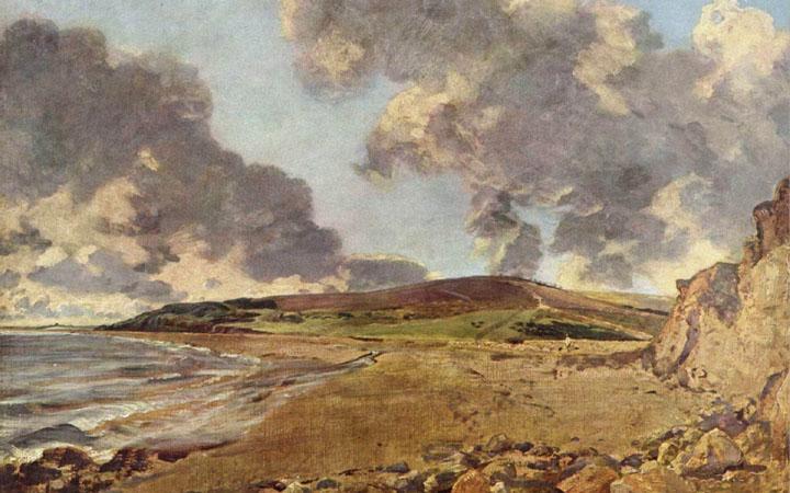 "John Constable, ""Weymouth Bay"" (c. 1816-19, oil on canvas)"