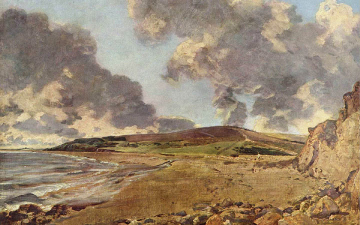 "John Constable, ""Weymouth Bay"" (c. 1816-19, oil on canvas)"