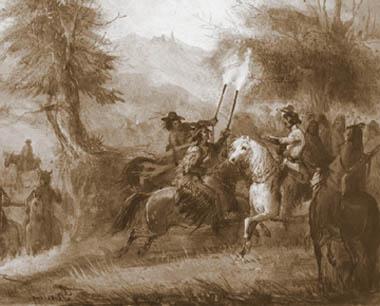 "Alfred Jacob Miller, ""Traperzy i Indianie"""