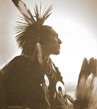 indianin w pióropuszu