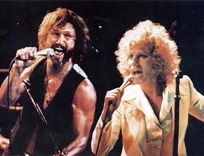 """Barbra Streisand i Kris Kristofferson w """"Narodzinach gwiazdy"""""""