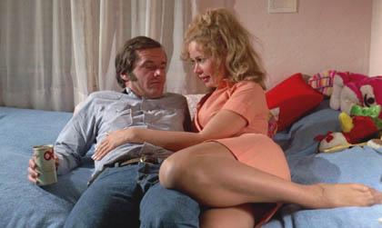 """Karen Black i Jack Nicholson w """"Pięciu łatwych utworach"""""""
