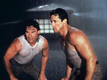 "Sylvester Stallone i Kurt Russell w ""Tango & Cash"""