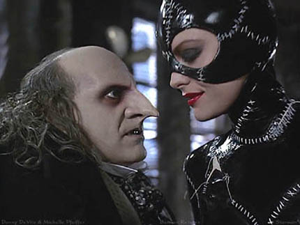 "Michelle Pfeiffer i Danny De Vito w ""Batman Returns"""