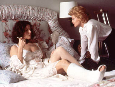 "Sigourney Weaver i Melanie Griffith w ""Working Girl"""
