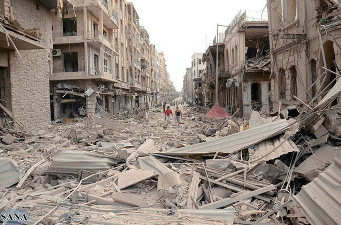 Ruiny Aleppo (Photo: Syrian Arab News Agency, McClatchy - Tribune)