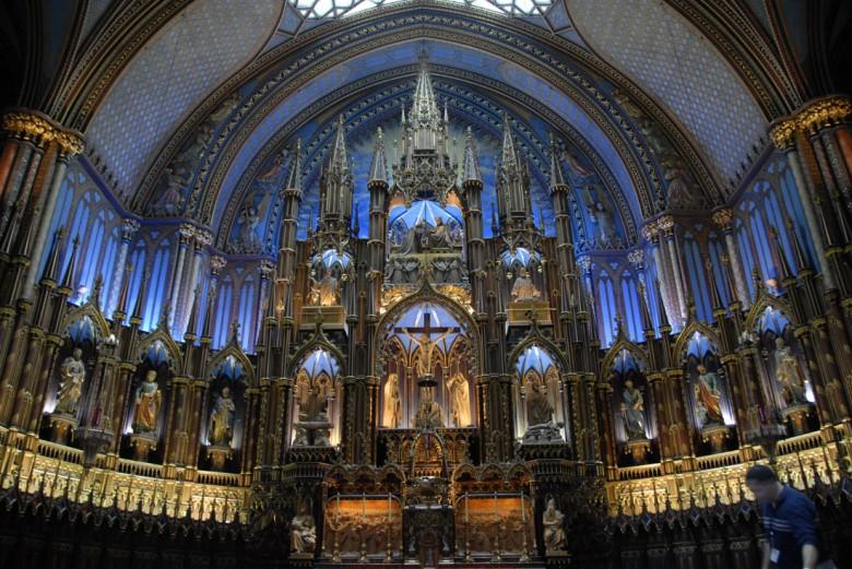 Cudo sztuki ołtarzowej - katedra w Montrealu