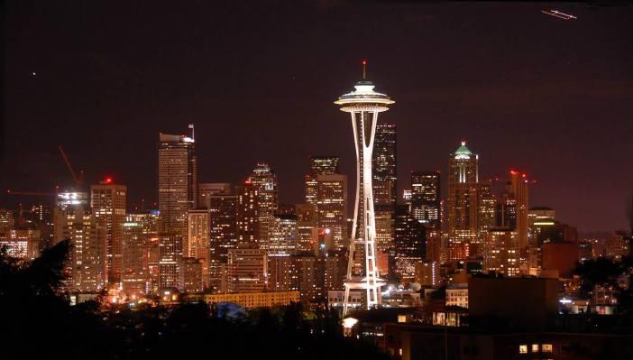 Seattle by night i Kosmiczna Igła