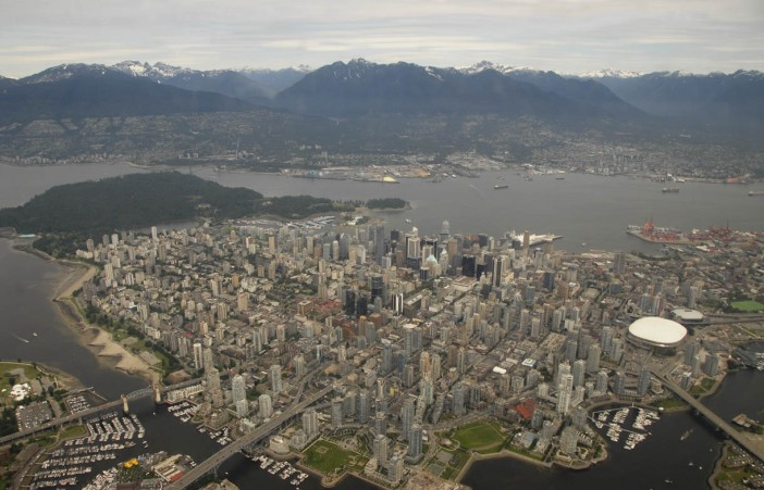 Vancouver z lotu ptaka (helikoptera)