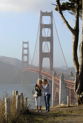 Pod mostem Golden Gate