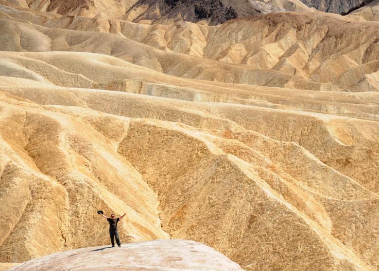 Zabriskie Point - pozdrowienia z Doliny Śmierci