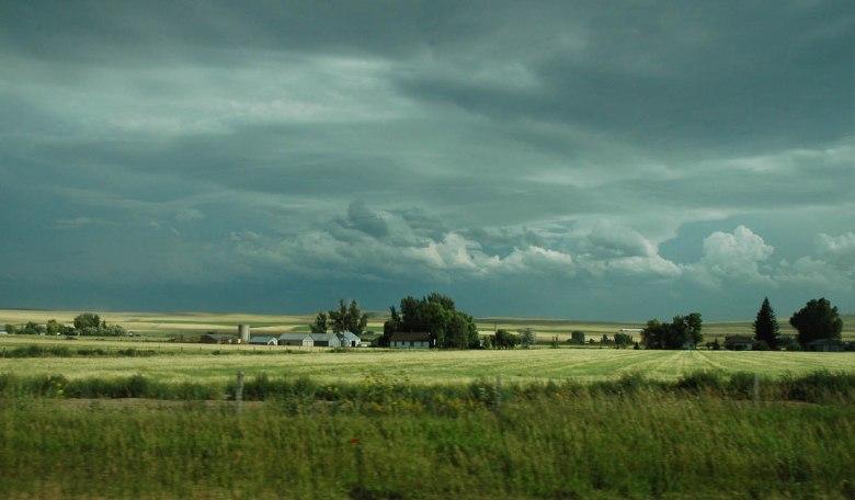 Idaho country - burza nadchodzi (pejzaż jak z malarskiego płótna)