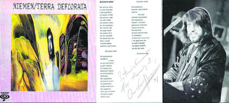 Niemen Terra Deflorata autograf