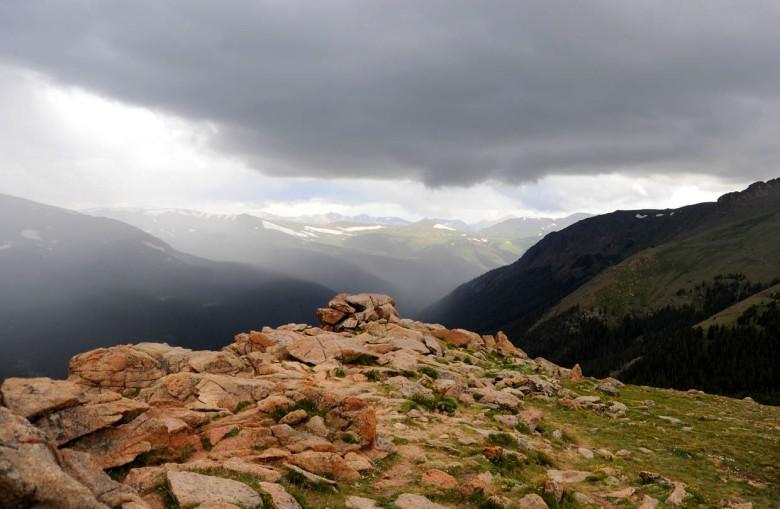 Na przełęczy w Górach Skalistych (Kolorado)