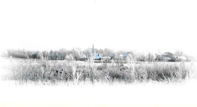 Pejzaż zimowy Podkarpacia