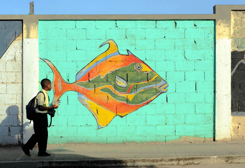 Boy with a fish (Virgin Gorda)