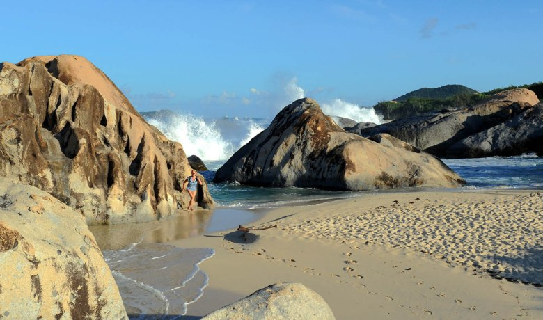 The Baths Big Splash (Virgin Gorda)