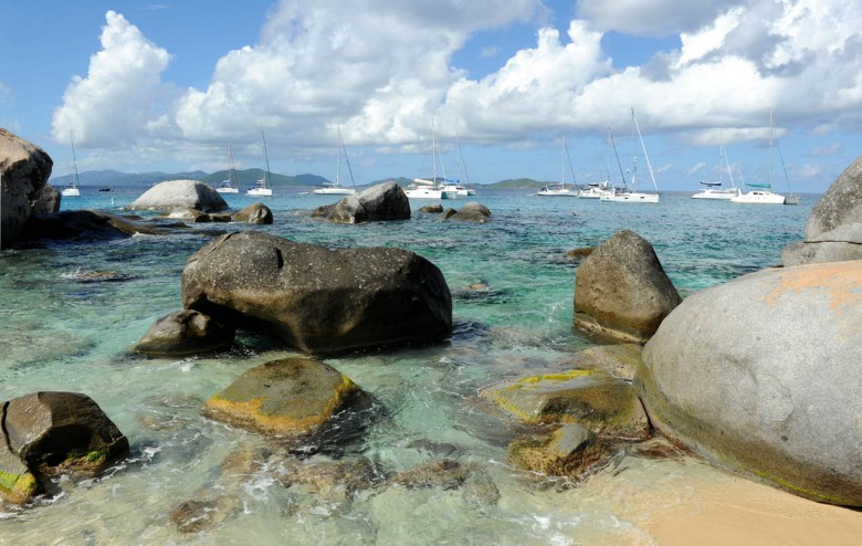 Yocgts in the Baths - Virgin Gorda