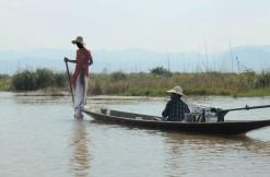 Jezioro Inle - rybacy przy pracy (3)