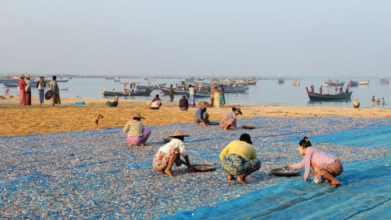 wsioska rybacka - Birma (3)