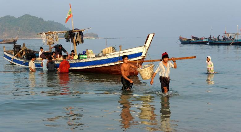 wsioska rybacka - Birma
