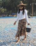 dziewczyna z wioski rybackiej wBirmie