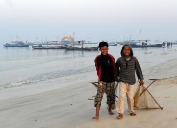 wioska rybacka - Birma