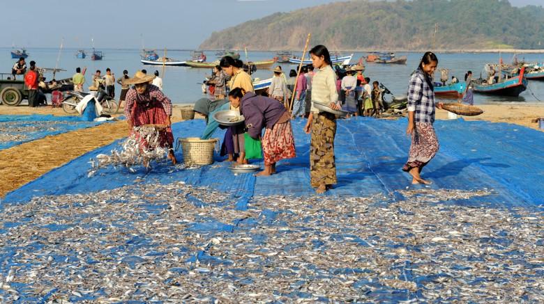 wsioska rybacka - Birma (4)