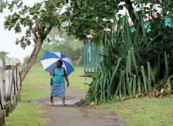 Pod parasolem w Tortuguero (KOSTARYKA)