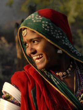 Marwarska pasterka z Radżastanu (INDIE)