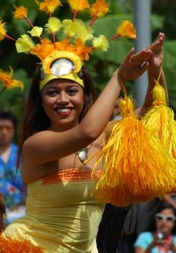 Tancerka z Centrum Polinezyjskiego na wyspie Oahu (HAWAJE)