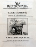 Olgierd Lukaszewicz – monodram wg Wyspianskiego (z dedykacja aktora),Chicago