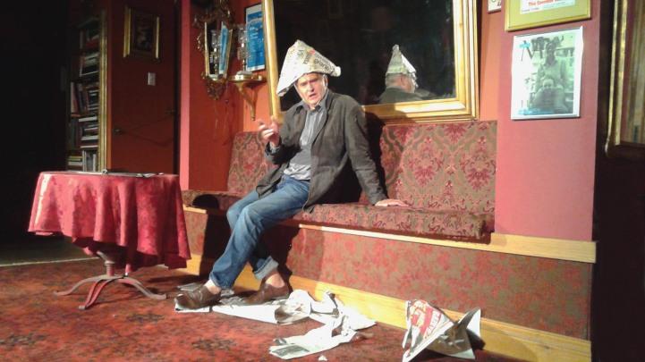 Olgierd Lukaszewicz w monodramie wedlug tekstów Wyspianskiego (Chopin Theatre, Chicago, 21 sierpnia, 2016 r.)