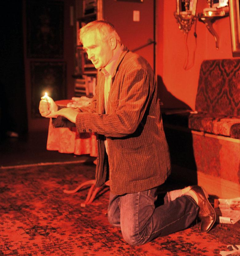 Olgierd Lukaszewicz w monodramie wg tekstów Wyspianskiego - Teatr Chopina w Chicago, sierpien 2016 r,
