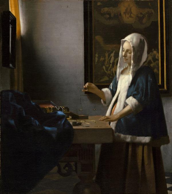 Jan Vermeer, Kobieta z wagą