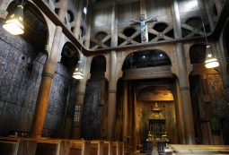 wnętrze kościoła w Heddal