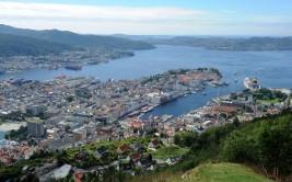 Bergen - widok ze wzgórza Fløyen