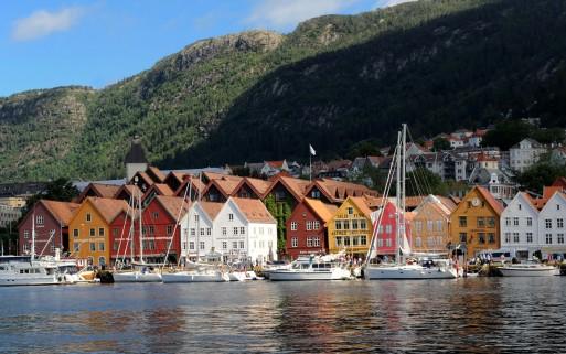 Bryggen - nabrzeże w Bergen