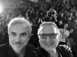 Zbigniew Banas i Alfonso Cuarón (fot. AlfonsoCuarón)BW