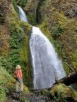 Jeden z wodospadów nad rzeką Columbia(Oregon)