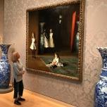 Przed obrazem Sargenta - The Museum of Fine Arts w Bostonie (Massachusetts)